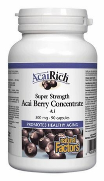 AcaiRich Super Strength Acai Berry Concentrate by Natural Factors - 90 Capsules
