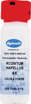 Aconitum Napellus 6X by Hylands - 250 Tablets