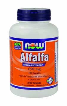 Now Foods Alfalfa 650 mg - 250 Tablets