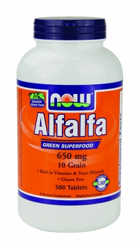 Now Foods Alfalfa 650 mg - 500 Tablets