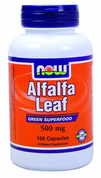 Now Foods Alfalfa Leaf 500 mg - 100 Capsules