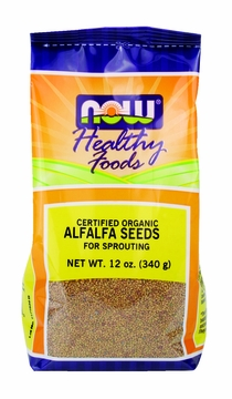 Now Foods Alfalfa Seeds (Certified Organic) - 12 Ounces