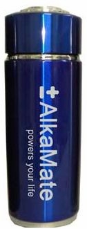 AlkaMate Alkalizing Water Bottle Blue by Healthier Life 4 You - 13 oz (410 ml)