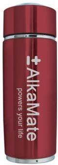 AlkaMate Alkalizing Water Bottle Red by Healthier Life 4 You - 13 oz (410 ml)