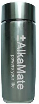 AlkaMate Alkalizing Water Bottle Silver by Healthier Life 4 You - 13 oz (410 ml)