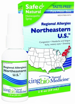Allergy Correction Northeastern US by King Bio - 2oz.