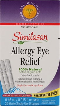 Similasan Allergy Eye Relief Drops - 0.015 Fluid Ounces