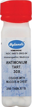 Antimonium Tartaricum 30X by Hylands - 250 Tablets