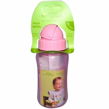 Aqua Bottle Pink by Green Sprouts - 10oz.