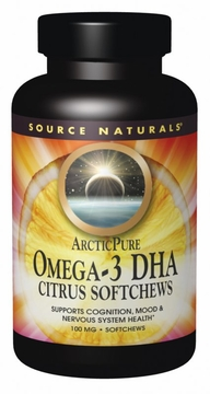 Source Naturals ArcticPure Omega-3 DHA Citrus 100 mg - 50 Softchews