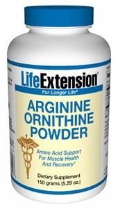 Arginine Ornithine Powder by Life Extension - 150 Grams