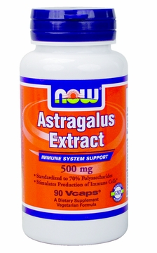 Now Foods Astragalus 500 mg - 90 Vegetarian Capsules