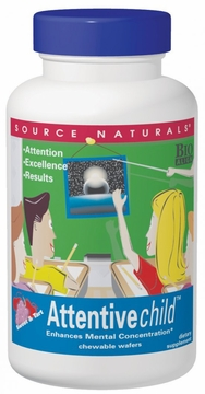 Source Naturals Attentive Child Sweet and Tart Taste - 60 Wafers