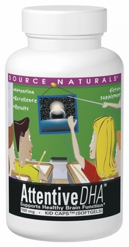 Source Naturals Attentive DHA 100 mg - 60 Vegetarian Softgels