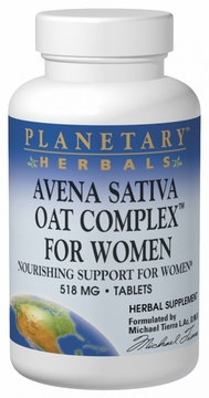 Planetary Herbals Avena Sativa Oat for Women 558 mg - 200 Tablets