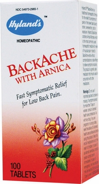 Backache with Arnica by Hylands - 100 Tablets