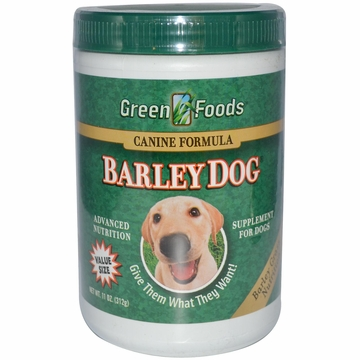 Green Foods Barley Grass Juice Powder (Dogs) - 11 Ounces