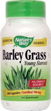 Barley Grass Young Harvest by Nature's Way - 100 Capsules
