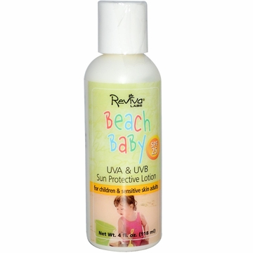 Reviva Labs Beach Baby Sun Protective Lotion SPF 25 - 4 Fluid Ounces