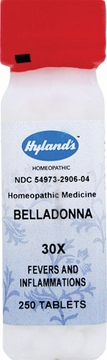 Belladonna 30X by Hylands - 250 Tablets