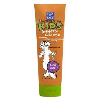 Kiss My Face Berry Treasure Toothpaste with Fluoride - 4 Ounces