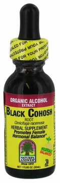 Black Cohosh Root Organic Alcohol by Nature's Answer - 1oz.
