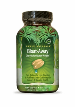 Bloat Away Diuretic by Irwin Naturals - 60 Liquid Gels