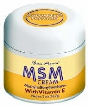 Born Again MSM Cream by At Last Naturals - 2oz.