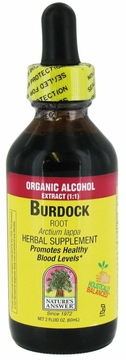 Burdock Root Organic Alcohol by Nature's Answer - 2oz.