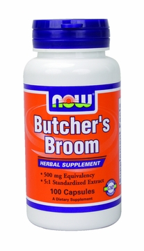 Now Foods Butchers Broom 500 mg - 100 Capsules