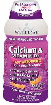 Calcium & Vitamin D3 (Formerly Calexel Liquid Calcium) by Wellesse - 16 fl. oz.