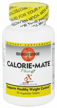 Mushroom Wisdom Calorie-Mate with Phase 2 and SX-Fraction - 90 Vegetarian Tablets