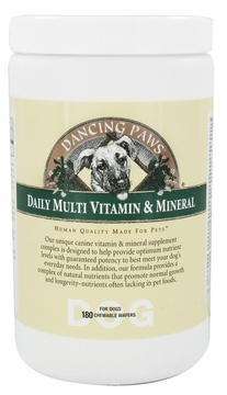 Canine Daily Multi Vitamin and Mineral by Dancing Paws - 180 Wafers