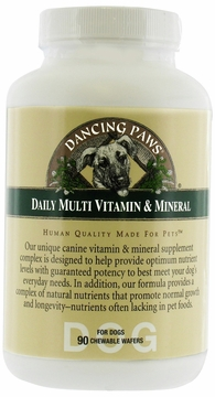 Canine Daily Multi Vitamin and Mineral by Dancing Paws - 90 Wafers