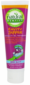 Cavity Zapper Anticavity Gel Toothpaste Berry Blast by Natural Dentist - 5oz.