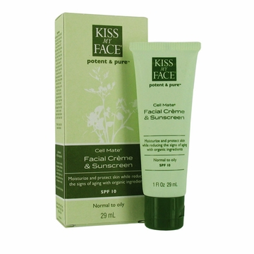 Kiss My Face Cell Mate Facial Creme and Sunscreen SPF 15 - 1 Ounce