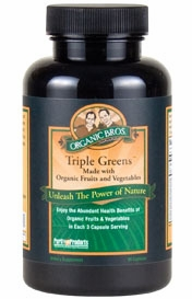 Certified Organic Triple Greens by Purity Products - 90 Capsules