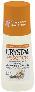Chamomile & Green Tea Mineral Deodorant Roll-On by Crystal Essence - 2.25 oz