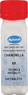 Chamomilla 6X by Hylands - 250 Tablets