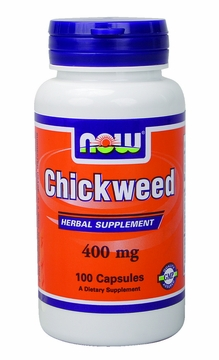 Now Foods Chickweed 400 mg - 100 Capsules