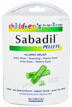 Children's Sabadil Pellets by Boiron - 2 Tubes