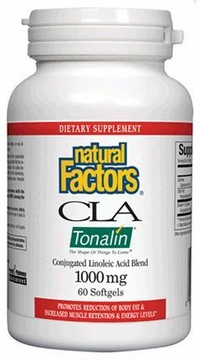 CLA Tonalin 1000 mg by Natural Factors - 60 Softgels