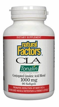 CLA Tonalin 1000 mg by Natural Factors - 90 Softgels