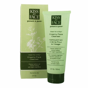 Kiss My Face Clean For A Day Creamy Face Cleanser - 4 Ounces