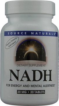 Source Naturals NADH Peppermint Sublingual 20 mg - 20 Tablets