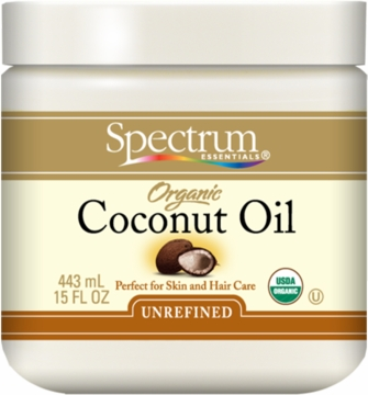 Coconut Oil Unrefined Organic by Spectrum Organics - 15oz.