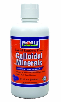 Now Foods Colloidal Minerals Raspberry - 32 Fliud Ounces
