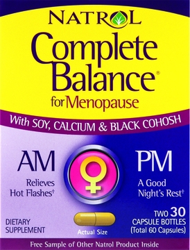 Complete Balance Menopause AM and PM by Natrol - 30 Capsules