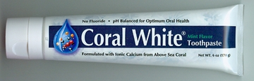 Coral White Ionic Calcium Toothpaste Mint by Coral Inc. - 6oz.