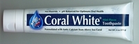 Coral White Ionic Calcium Toothpaste Tea Tree by Coral Inc. - 6oz.